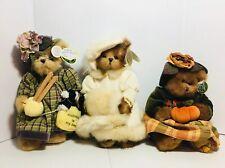 The Bearington Collection Bears  Lot Of 3 Stuffed Animal Dolls