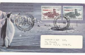 BELGIUM 1958 ANTARCTIC STAMPS ON ILLUSTRATED COVER to UK