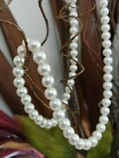 """🌟 Vintage Designer SARAH COV Signed chunky faux PEARLS 7.8mm ~ 24"""""""
