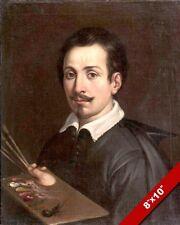 GUIDO RENI SELF PORTRAIT PAINTING ITALIAN MASTER ARTIST ART REAL CANVAS PRINT