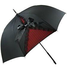 Kung Fu Smith Black Vintage London British UV Protection Sun Stick Umbrella