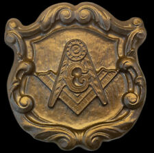 Mason Masonic Lodge Symbol temple sculpture art plaque Bronze Finish