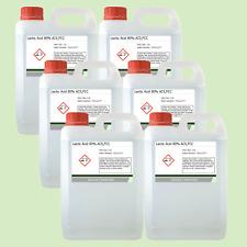 Lactic Acid 80% 6 x 2.5 Litre (15L) Food Grade Acne/Facial/Home Brew