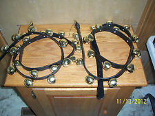 Arctic sleigh bells on 6' straps BRASS SET of 2! Jingle bells Great for doors