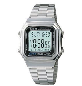 Casio A178WA-1AV, Digital Watch, Chronograph, Alarm, Day/Date, 10 Year Battery