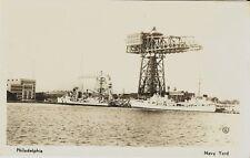 Old Real Photo Postcard - Philadelphia Navy Yard