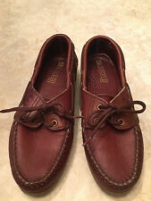 DEXTER deck boat shoes Youth Boys Girls Unisex Size 6.5 leather oxblood color