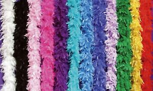 70 GRAM 6FT Feather Boas Costumes Dress Up Parties Crafts Holidays Decor Wedding