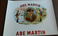 ABE MARTIN COMIC CHARACTER Original cigar box label Nashville, Indiana Hibbard