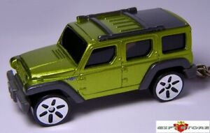 HTF KEY CHAIN NEW JEEP WRANGLER RESCUE GREEN 4X4 CUSTOM LIMITED EDITION ALL ROAD