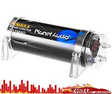 Pcblk35 Planet Audio 3.5 Farad Black power Capacitor w- Digital Voltage Display