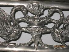 Antico letto artigianale  '800   cigni in lega d'argento. ancient bed handmade