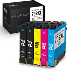 5x Generic 702XL 702 XL Ink Cartridge For Epson Workforce WF3720 WF3725 WF3730