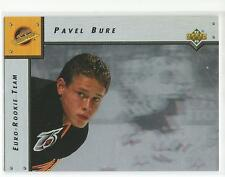 PAVEL BURE 1992-93 Upper Deck Euro Rookie Hockey card #ERT1 Vancouver Canucks NM