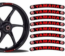 8 YAMAHA WHEEL RIM VINYL STICKERS STRIPES MOTO CAR BIKE MOTORCYCLE TUNING R18