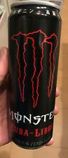 Japan 2018 MONSTER energy drink CUBA LIBRE ribbed can EMPTY used TOP-SEALED