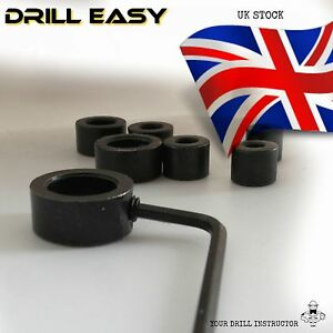 8pcs Drill Bit Shaft Depth Stop Collar 3/4/5/6/8/10/12mm A-Key Hex Wrench Set
