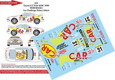 DÉCALS 1/43 réf 222 Toyota GT Four MONTE CARLO 1999  PEDERSOLI 1er Challenge