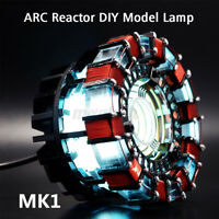 1:1 DIY Arc Reactor Lamp Model Kits LED Chest Light USB Powered Movie Props Gift