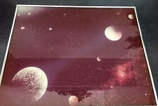 """Ron Russell """"ASTRAL SPACE"""" limited Edition Glass Art Print Artwork w/ COA"""
