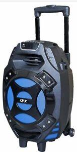 "QFX PBX-61081BT Portable Wireless Bluetooth Party Speaker 8"" Subwoofer W/Remote"