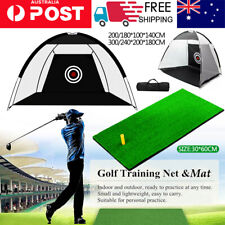 2M/3M Golf Practice Training Net Hitting Nets Driving Netting Chipping Cage Aids