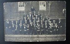 More details for vintage postcard royal naval ship hms walrus crew sailors unposted real photo rp
