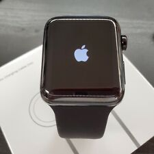 Apple Watch Series 2 42mm Stainless Steel ceramic black Sport Band *A GRADE**