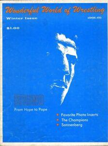 BRUNO SAMMARTINO Wonderful World of Wrestling Magazine Winter Issue 1968-69