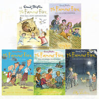 New The Famous Five Collection 5 Books Children Gift Set By Enid Blyton
