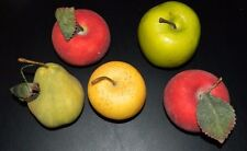 Lot of 5 Fake Apples & Pear Fruit Home Decor Artificial Prop Staging Craft