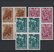Liechtenstein 399/401 einwandfrei postfrische Viererblöcke ...............1/3049