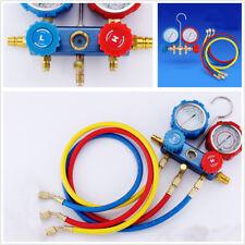 Car Air Condition Fluoride Meter Pressure Gauge Refrigerant Double Meter Valve