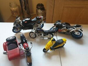 Joblot Of 5 Toys Motorbikes