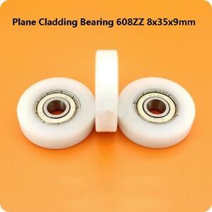 Nylon  Pulley Wheels Roller  Ball Bearing 608ZZ 8x35x9mm Bathroom Guide Wheel