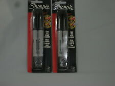 Sharpie 32162 Twin Tip Permanent Markers Fineampultra Fine Black 2ct Lot Of 2