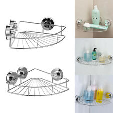 Bathroom Suction Cup Corner Basket Bath Shower Caddy Storage Shelf Stand  Holder