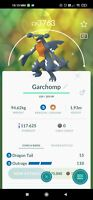 Pokemon account go WITH Level 40 max cp Garchomp,shiny Gible, Darkai 89 Legend
