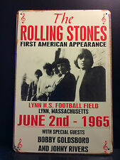 THE ROLLING STONES JUNE 2nd 1965 CONCERT POSTER RETRO VTG METAL SIGN  30X40 CM