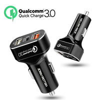 Samsung Fast USB Car Charger for Galaxy S9 S9+ S8/S8 Plus + USB Type-C 3-Port