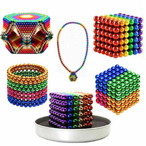 6 Colors 3D Magnet Magic Balls Beads 3mm 5mm Puzzle Ball Sphere Magnetic Toys