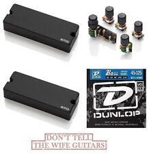 EMG 40DC Set 5 String Soapbar & BQS Tone Control System ( FREE BASS STRINGS )