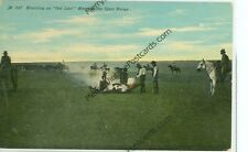 BRANDING AN OUT LAW STEER ON THE OPEN RANGE-M307-PRE1920-(CW-307)