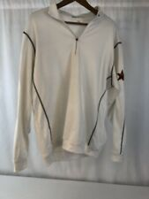 Nike Golf Tour Performance Therma Fit 1/4 Zip Pullover Shirt Mens L White Gray