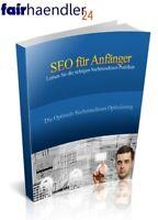 SEO für ANFÄNGER - SUCHMASCHINEN OPTIMIERUNG Google Bing EBOOK + VK Seite + PLR