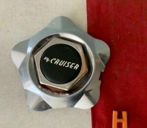 #H 1 *RARE* Chrysler Center Cap Hub RED Hexagon dream cruiser Chrome 8530-4