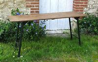TABLE VINTAGE, design scandinave, bois et métal, mullca, TABLE DESIGN .