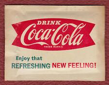 UNOPENED 1958-1965 VINTAGE WASH 'N DRI TOWELETTE WITH COCA-COLA ADVERTISING
