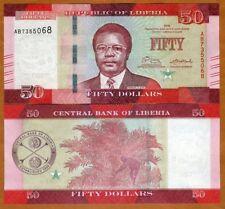 Liberia, 50 dollars 2016 (2017), P-New, UNC > Redesigned