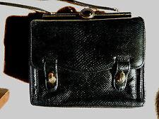 Judith Lieber Vintage Black Snakeskin Shoulder Bag